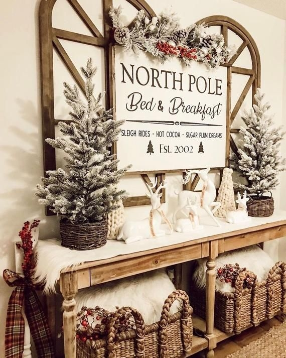 29Rustic Christmas Design Ideas For Your Apartment Décor To Try