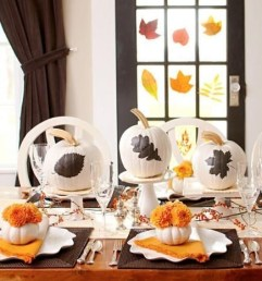 Admiring White And Orange Pumpkin Centerpieces Ideas For Halloween 07