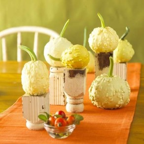 Admiring White And Orange Pumpkin Centerpieces Ideas For Halloween 32