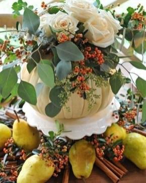 Admiring White And Orange Pumpkin Centerpieces Ideas For Halloween 41