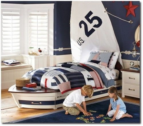 Charming Childrens Bedroom Resembles Design Ideas With A Boat 43