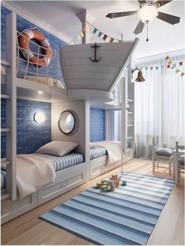 Charming Childrens Bedroom Resembles Design Ideas With A Boat 45