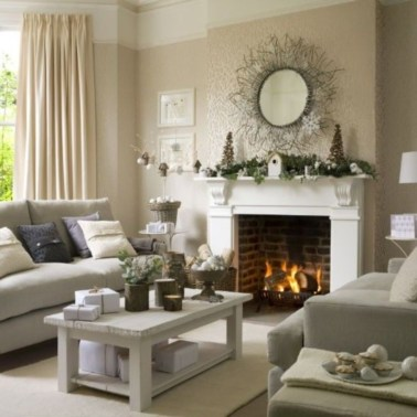Delicate Living Room Design Ideas With Fireplace To Keep You Warm This Winter 02