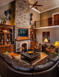 Delicate Living Room Design Ideas With Fireplace To Keep You Warm This Winter 05