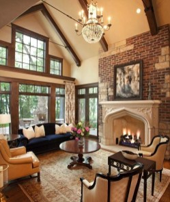 Delicate Living Room Design Ideas With Fireplace To Keep You Warm This Winter 15