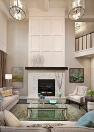 Delicate Living Room Design Ideas With Fireplace To Keep You Warm This Winter 42