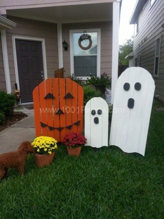 Favored Halloween Diy Pallet Outdoor Decor Ideas To Inspire You 34