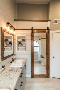 Unusual Remodel Design Ideas To Be Modern Farmhouse Bathroom 46
