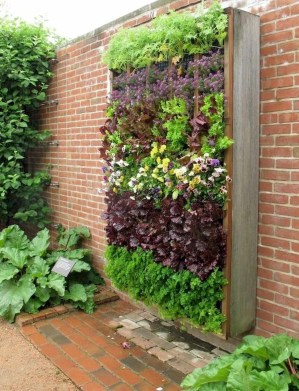 Rustic Small Backyard Design Ideas With Vertical Garden To Try Asap 15