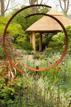 Attractive Garden Art Design Ideas That You Can Create Itself 06
