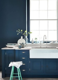 Classy Blue Kitchen Cabinets Design Ideas For Kitchen Looks More Incredible 21