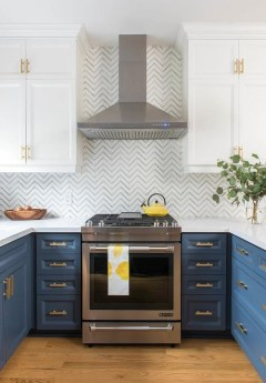 Classy Blue Kitchen Cabinets Design Ideas For Kitchen Looks More Incredible 50