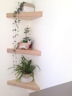 Comfy Corner Floating Shelves Design Ideas To Beautify Your Room Corner 04