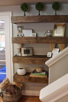 Comfy Corner Floating Shelves Design Ideas To Beautify Your Room Corner 11
