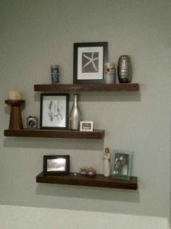 Comfy Corner Floating Shelves Design Ideas To Beautify Your Room Corner 20