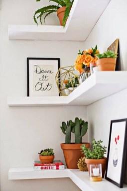 Comfy Corner Floating Shelves Design Ideas To Beautify Your Room Corner 24