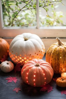 Cozy Pumpkin Carving Design Ideas You Can Do Yourself 02