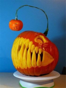Cozy Pumpkin Carving Design Ideas You Can Do Yourself 07
