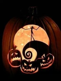 Cozy Pumpkin Carving Design Ideas You Can Do Yourself 30