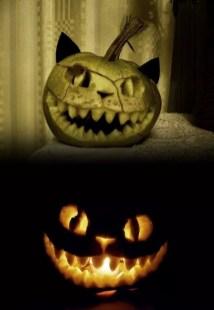 Cozy Pumpkin Carving Design Ideas You Can Do Yourself 31