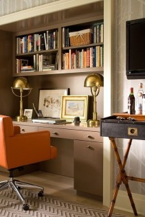 Gorgeous Traditional Small Home Office Design Ideas For You To Have 37