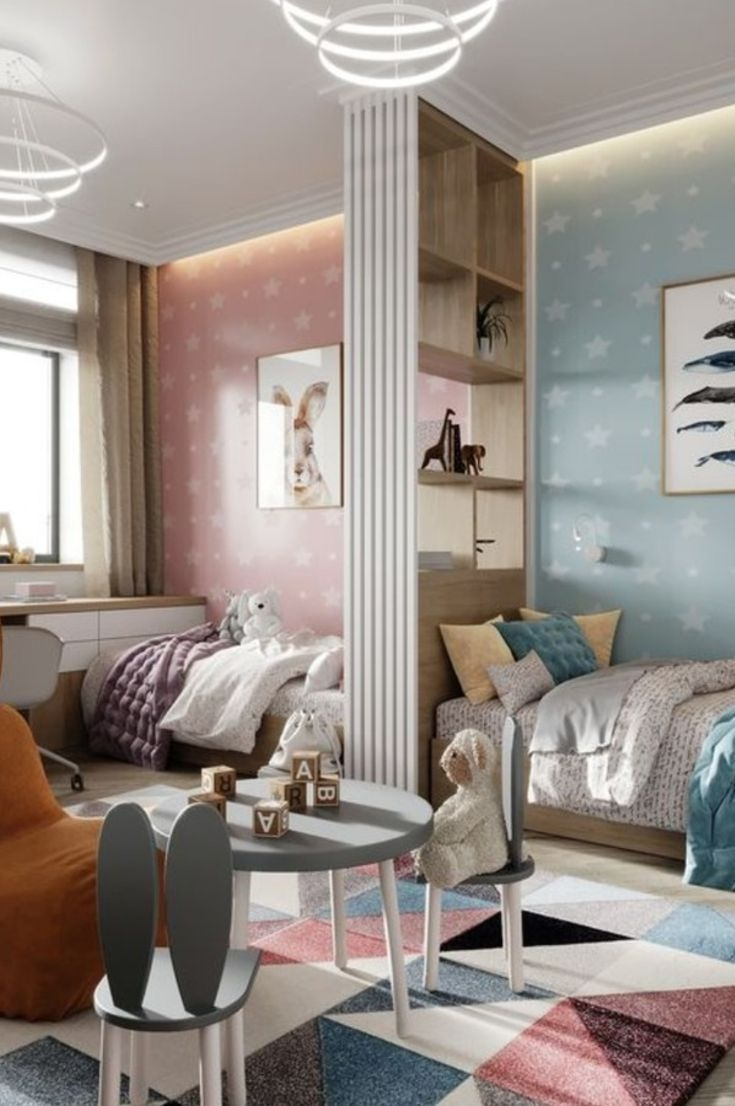 Adorable Bedroom Kids Design Ideas That Looks So Funny 37