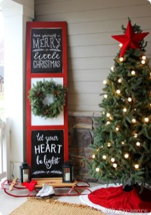 Comfy Christmas Front Porch Decor Ideas To Looks More Elegant 46