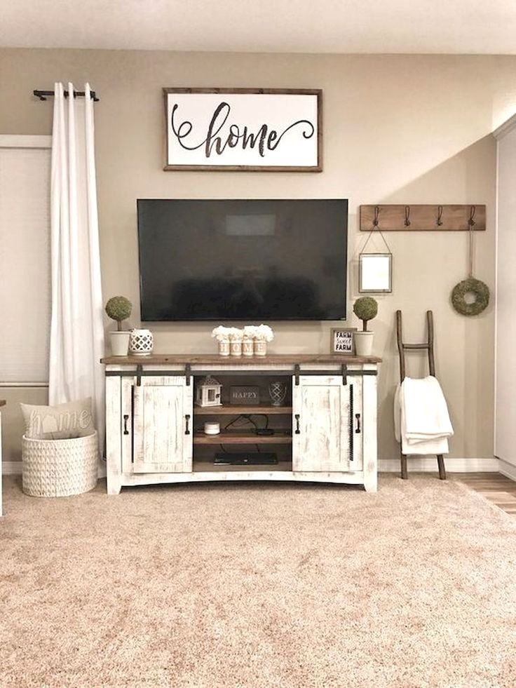 Comfy Farmhouse Living Room Decor Ideas To Try This Year 36