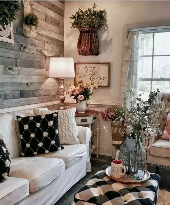 Comfy Farmhouse Living Room Decor Ideas To Try This Year 45