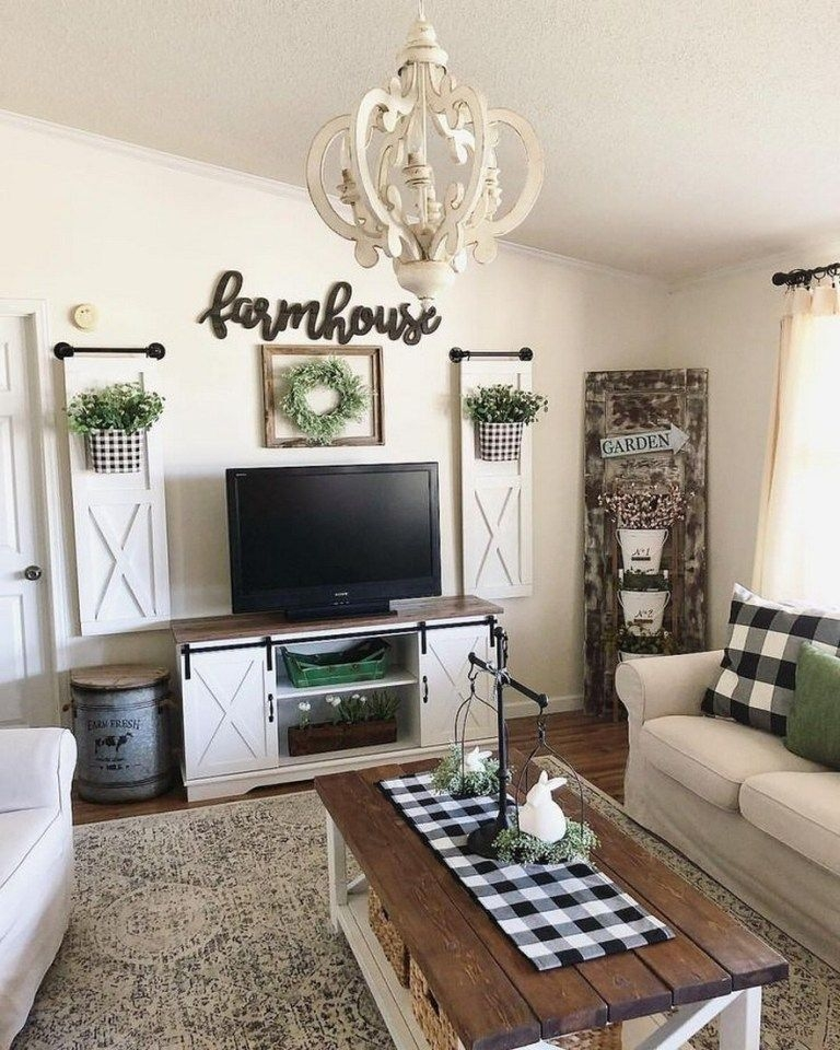 Comfy Farmhouse Living Room Decor Ideas To Try This Year 49