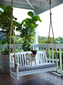 Creative Swing Chairs Garden Ideas That Looks Adorable 25