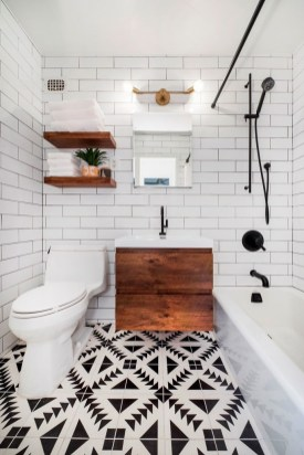 Enjoying Small Bathroom Floor Tile Design Ideas To Inspire You 45
