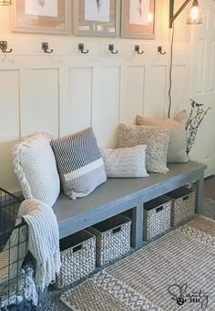 Latest Diy Storage Bench Design Ideas For Your Unique Living Room Decoration 08