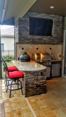 Luxury Outdoor Kitchen Design Ideas That Brings A Cleaner Looks 07