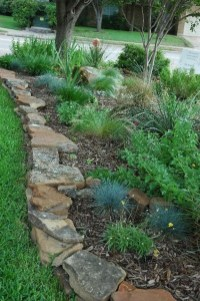 Delicate Garden Landscaping Design Ideas Using Rocks Stone To Try 21
