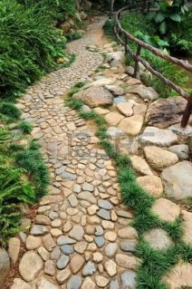 Delicate Garden Landscaping Design Ideas Using Rocks Stone To Try 28