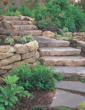 Delicate Garden Landscaping Design Ideas Using Rocks Stone To Try 33