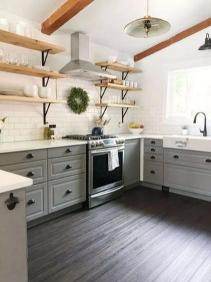 Elegant Farmhouse Kitchen Cabinet Makeover Design Ideas That Very Cozy 06