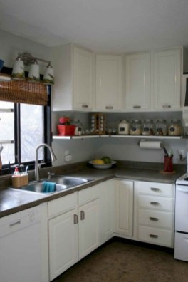 Elegant Farmhouse Kitchen Cabinet Makeover Design Ideas That Very Cozy 07