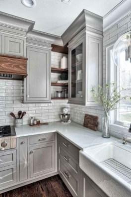 Elegant Farmhouse Kitchen Cabinet Makeover Design Ideas That Very Cozy 08