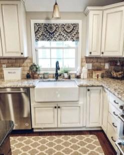 Elegant Farmhouse Kitchen Cabinet Makeover Design Ideas That Very Cozy 19