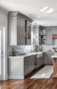 Elegant Farmhouse Kitchen Cabinet Makeover Design Ideas That Very Cozy 22