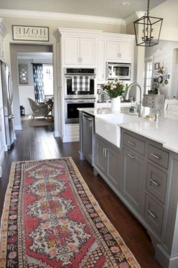 Elegant Farmhouse Kitchen Cabinet Makeover Design Ideas That Very Cozy 25