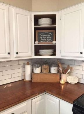 Elegant Farmhouse Kitchen Cabinet Makeover Design Ideas That Very Cozy 35