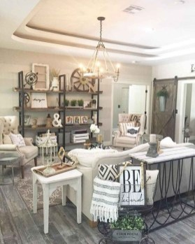 Gorgeous Farmhouse Living Room Makeover Decor Ideas To Try Asap 08