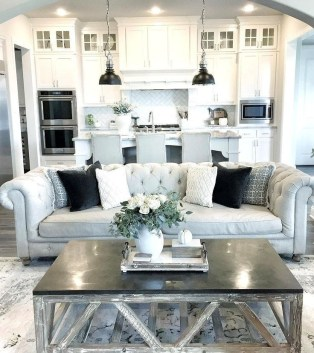 Gorgeous Farmhouse Living Room Makeover Decor Ideas To Try Asap 24