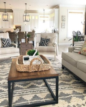 Gorgeous Farmhouse Living Room Makeover Decor Ideas To Try Asap 27