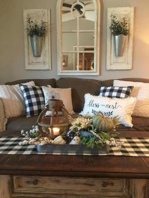 Gorgeous Farmhouse Living Room Makeover Decor Ideas To Try Asap 37