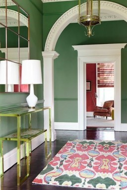 Sophisticated Home Decoration Ideas With Green Paint Combination 09