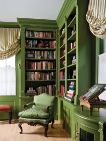 Sophisticated Home Decoration Ideas With Green Paint Combination 14